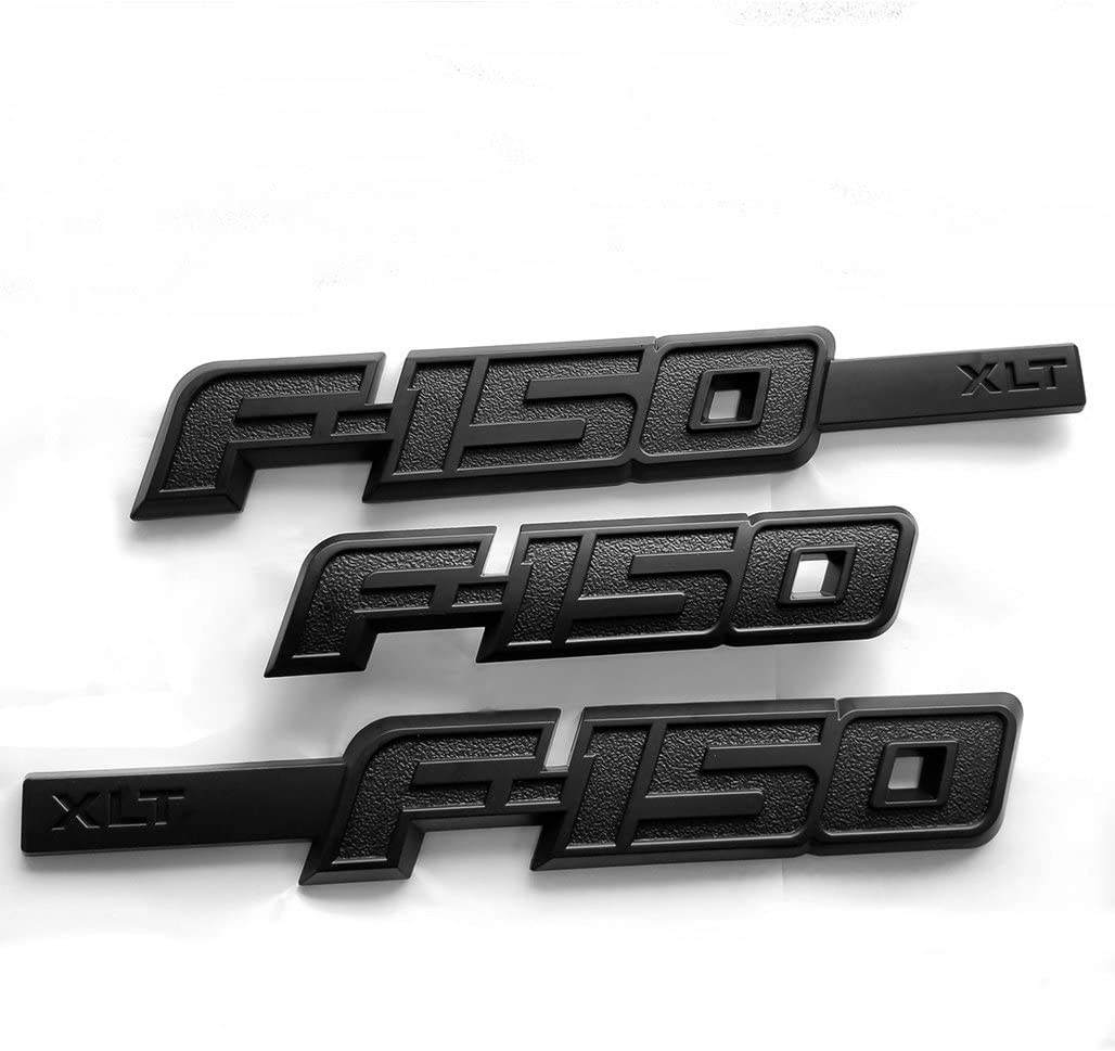 3x OEM F-150 Fx4 Emblem Side Fender F-150 Badge Rear Tailgate 3D Nameplate Replacement for F150 Origianl size Genuine Parts Black Sanucaraofo