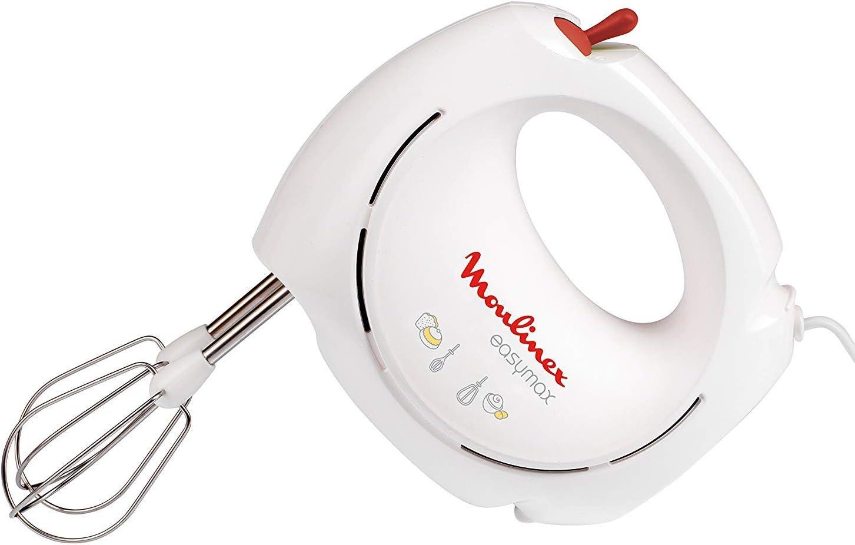 Moulinex EasyMax ABM11A30 Batidora Amasadora, 200 W, 5 Velocidades, Plástico