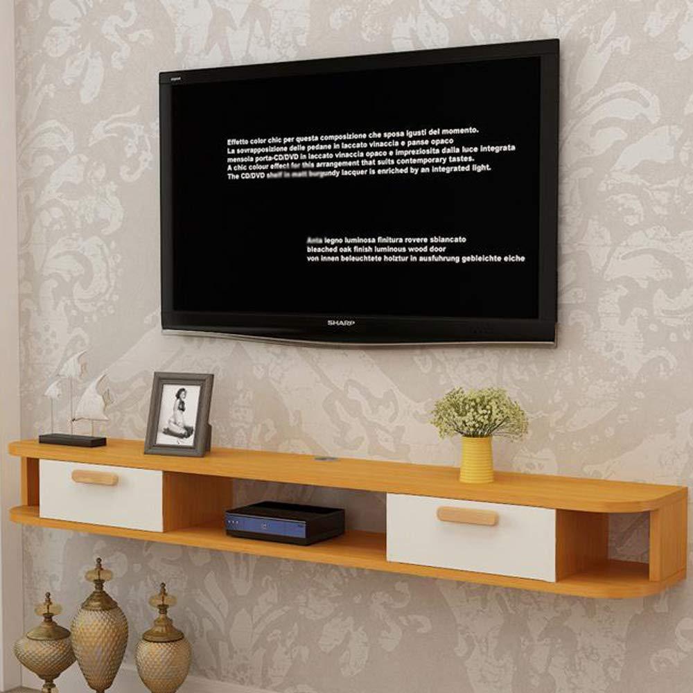 Amazon.com: Floating Shelf Wall-Mounted TV Cabinet ...