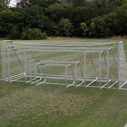 Alumagoal SGA320 Alumagoal44; Natural Aluminum Club Soccer Goals44; Pack of (Soccer Aluminum Round Club)