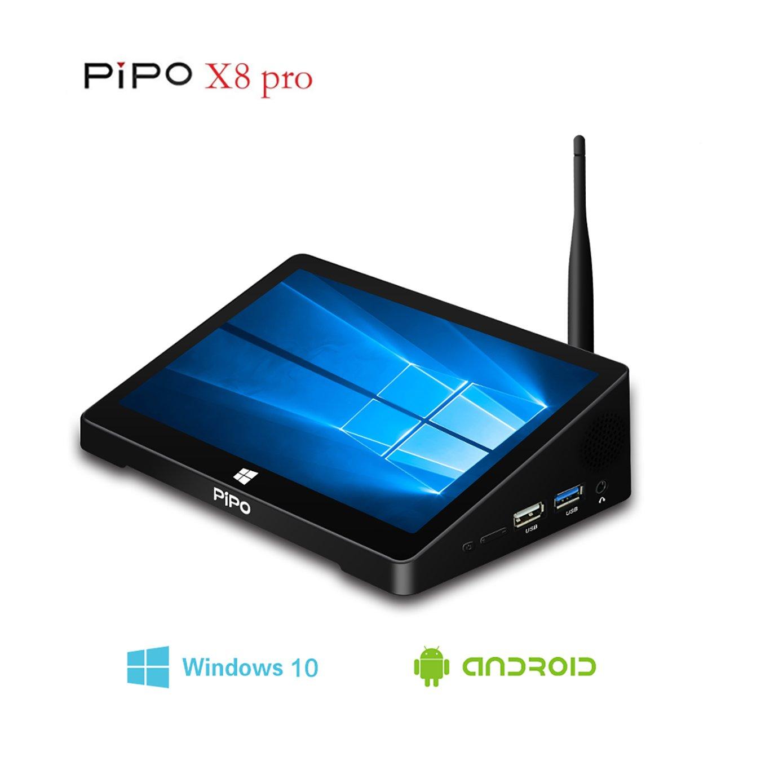 PIPO X8 pro 7 Inch MINI pc, Tablet PC, Quad Core Intel Atomz8350 2GB/GB Support Windows10 &Android Dual OS HDMI 802.11b/g/n LAN BT4.0, Mini Computer