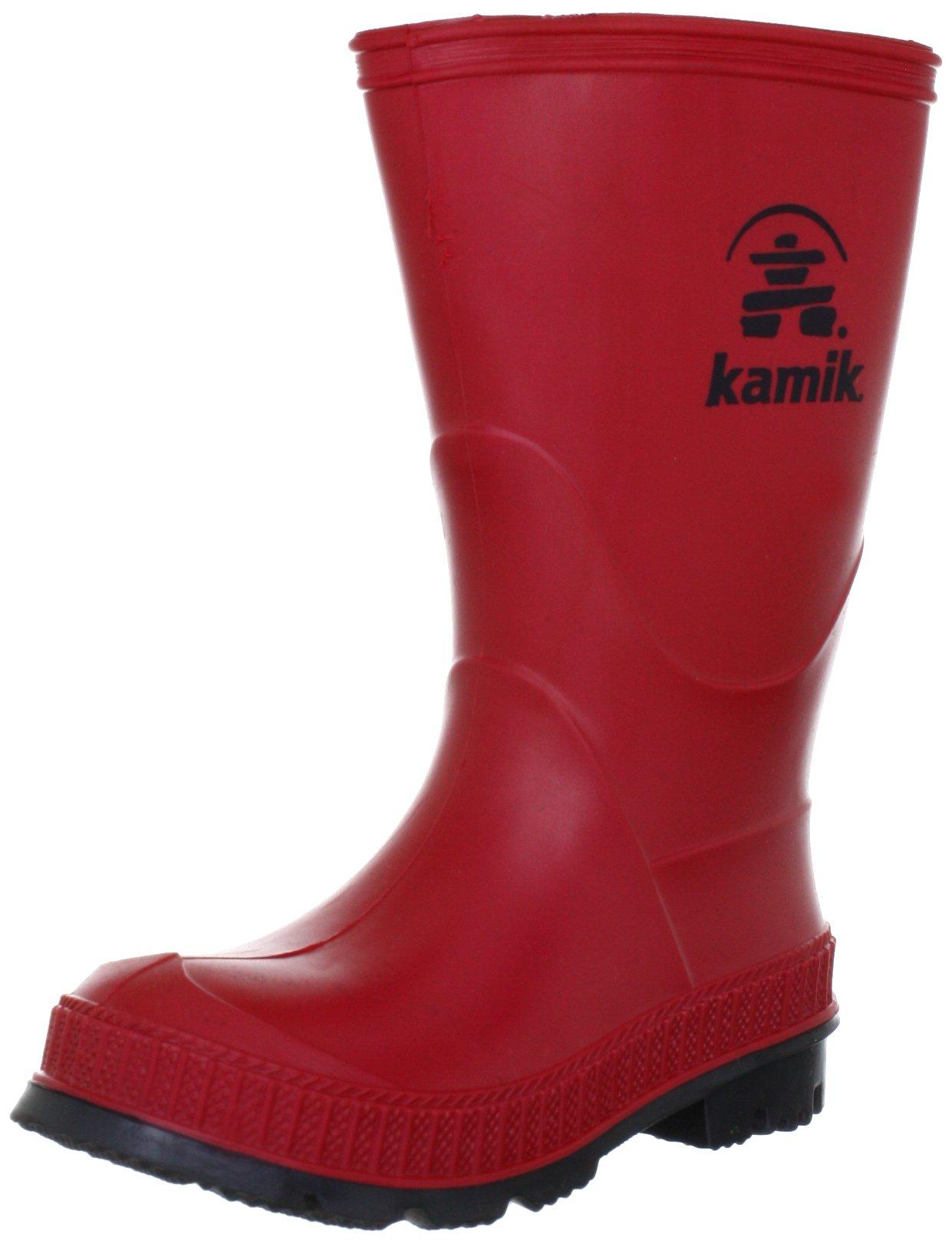 Kamik STOMP/YOUTH/PUR/6149 Rain Boot Red,12 M US Little Kid