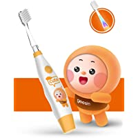 Baby&kids Electric Toothbrush Sonic Toothbrushes babies Battery Powered kids Toothbrushes with LED Light and Smart Timer Waterproof Replaceable Deep Clean For kids&baby-Baby Toothbrush Sonic