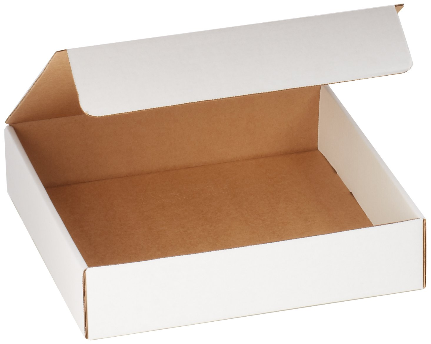 Aviditi White Literature Mailing Boxes, 13 x 13 x 3 Inches, Pack of 50, Crush-Proof, for Shipping, Mailing and Storing