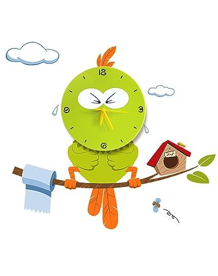 amazon com cute wall clocks cartoon sticker large decorative wall