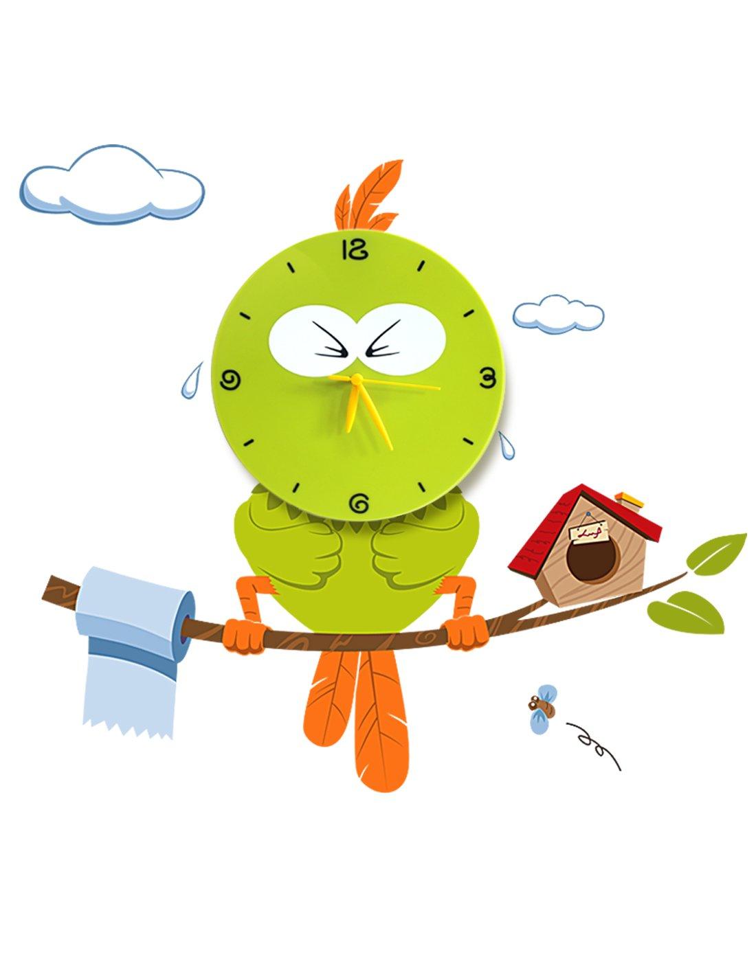 Cute Wall Clocks Cartoon Sticker Large Decorative Wall Clocks Kids Bedroom Children Home Decor Big Kids DIY Wall Clock Reloj