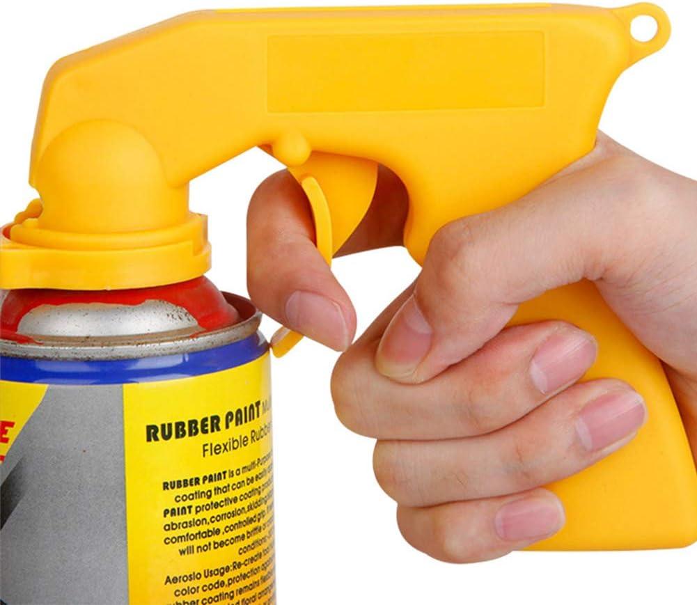 Xuba Portable Spray adaptateur A/érosol Pistolet Poign/ée avec grip complet Trigger verrouillage Collier Noir