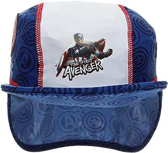 Marvel Avengers Captain America Cap - 4 to 6 Years, Blue/White