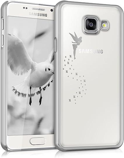 Kwmobile Hülle Kompatibel Mit Samsung Galaxy A3 2016 Handyhülle Handy Case Fee Silber Transparent Elektronik