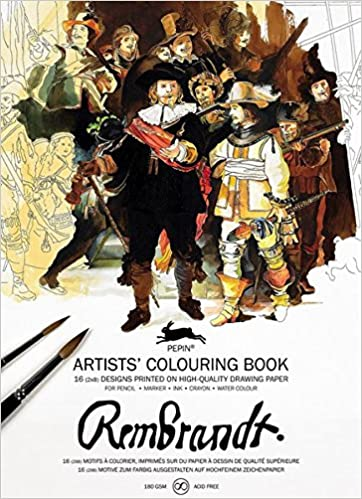 pepin press pepin press rembrandt paintings artistscolouring book 98130