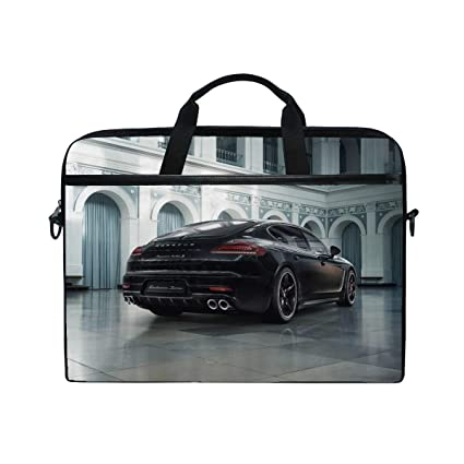 Porsche Panamera Exclusive Rear View Turbo S Laptop Shoulder Messenger Bag Case Sleeve for 14 Inch