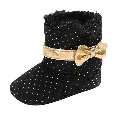 d1a5edfc20d08 PRINCER Toddler Baby Girls Shoes, Winter Fashion Warm Fleece ...