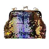 Women Bling Sequins Bucket Bag Shoulder Bags /Crossbody, Luca Travel Backpack Rucksack School Bucket Bag (Multicolor B)