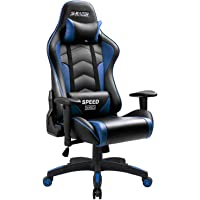 Homall Gaming Chair High Back Computer Chair Racing Style Office Chair Embossing Design Pu Leather Bucket Seat Desk Chair with Adjustable Armrest Ergonomic Headrest and Lumbar Support
