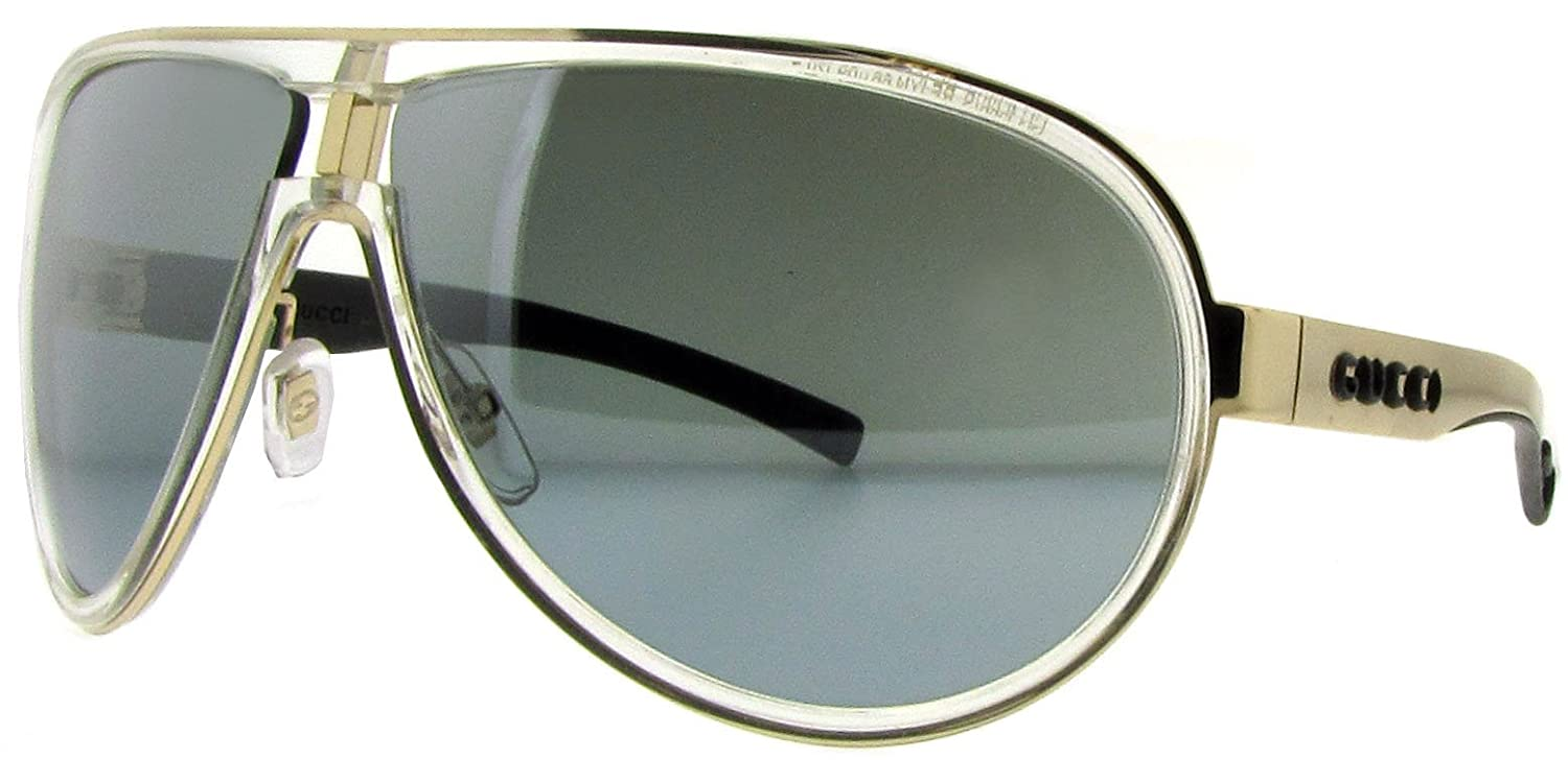 59e2379b7d6 Amazon.com  Gucci Gg 1566 S Crystal Gold Frame Silver Mir Grad Lens 66Mm   Clothing