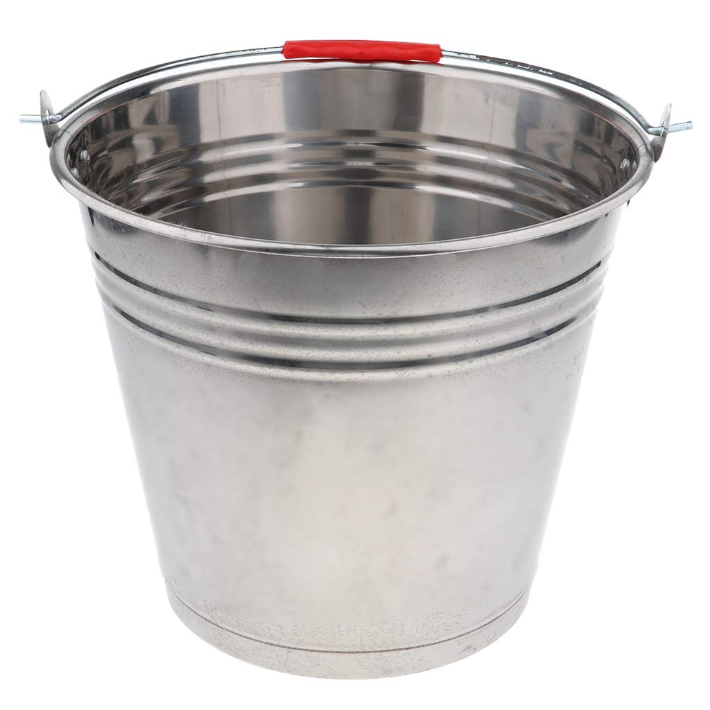 Kitchen Tools & Gadgets Ice Buckets CUTICATE 12L/16L/20L Stainless Steel Ice Bucket Pail Wine Water Storage Party Bar 12L 32cm