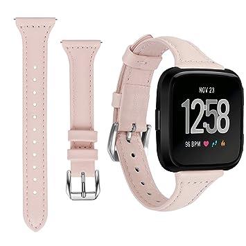 Happytop Femme Fitbit Versa Band de remplacement Cuir élégant Bracelet de montre bracelet pour Fitbit Bandes