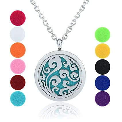 Amazoncom Gertong Essential Oil Diffuser Necklace Hypo Allergenic