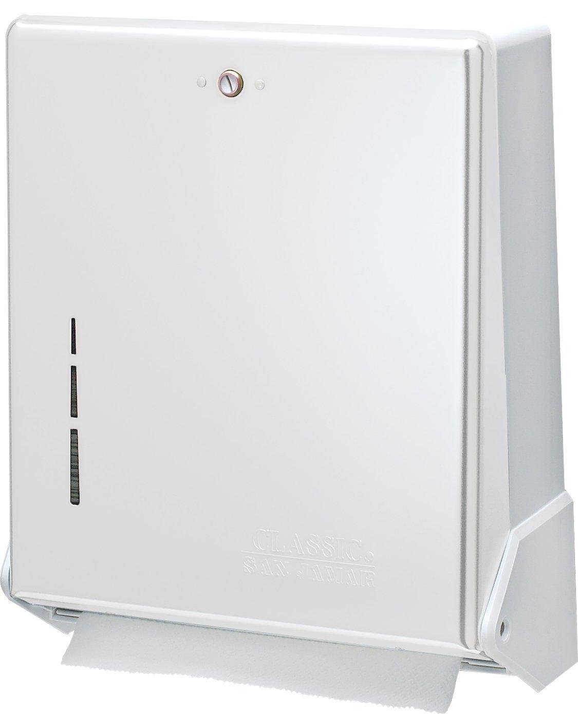 250 Multifold San Jamar T1950XC Mini C-Fold//Multifold/Commercial Towel Dispenser Chrome 150 C-Fold Towel Capacity