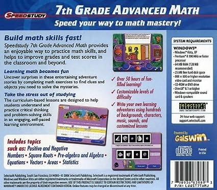 Amazon.com: Speedstudy 7th Grade Advanced Math: Software