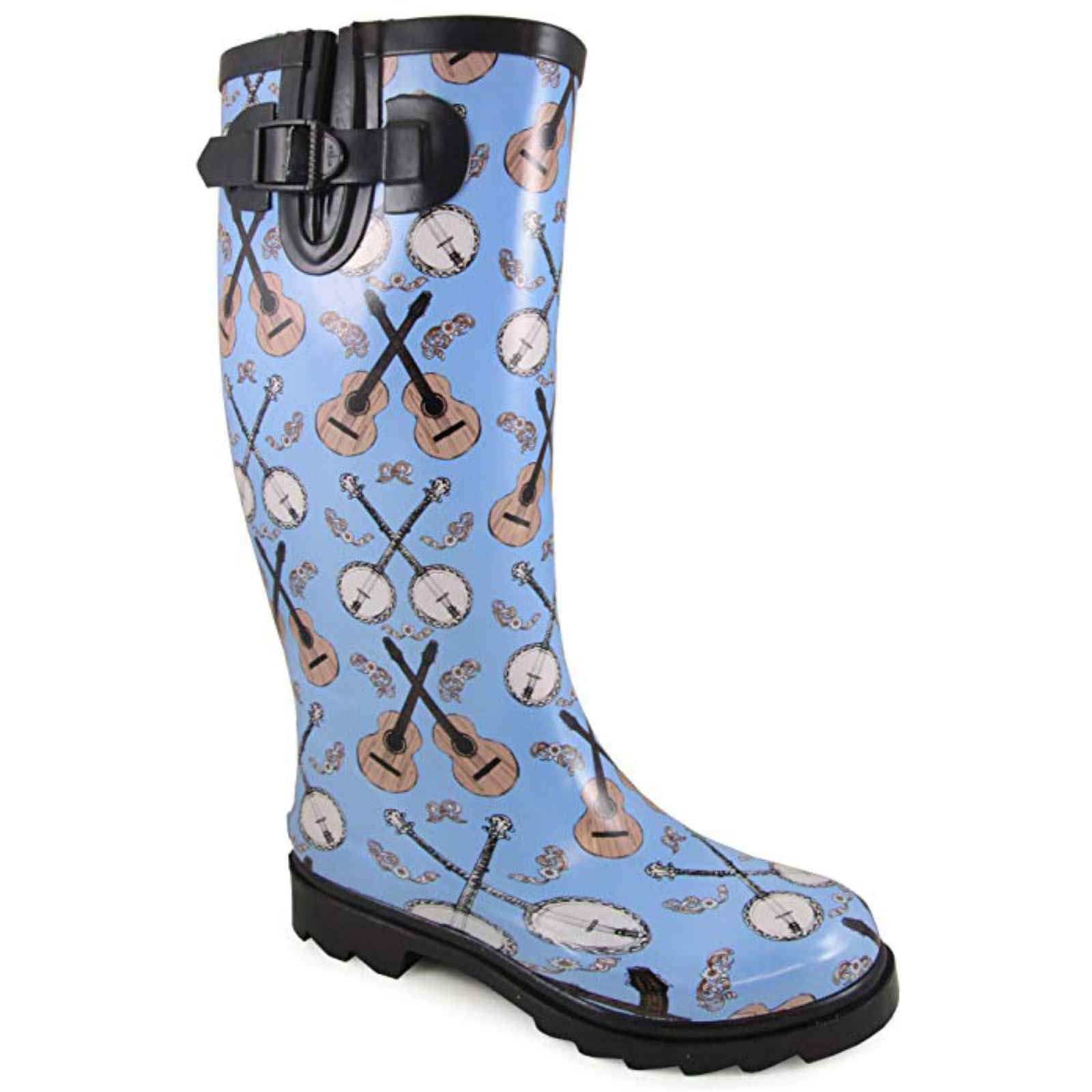 Smoky Mountain Womens Banjo Blue Rubber Rain Boots 11 M