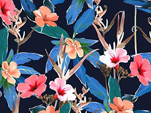 Dress Sateen Print - John Kaldor Floral Print Cotton Sateen Dress Fabric Blue - per metre