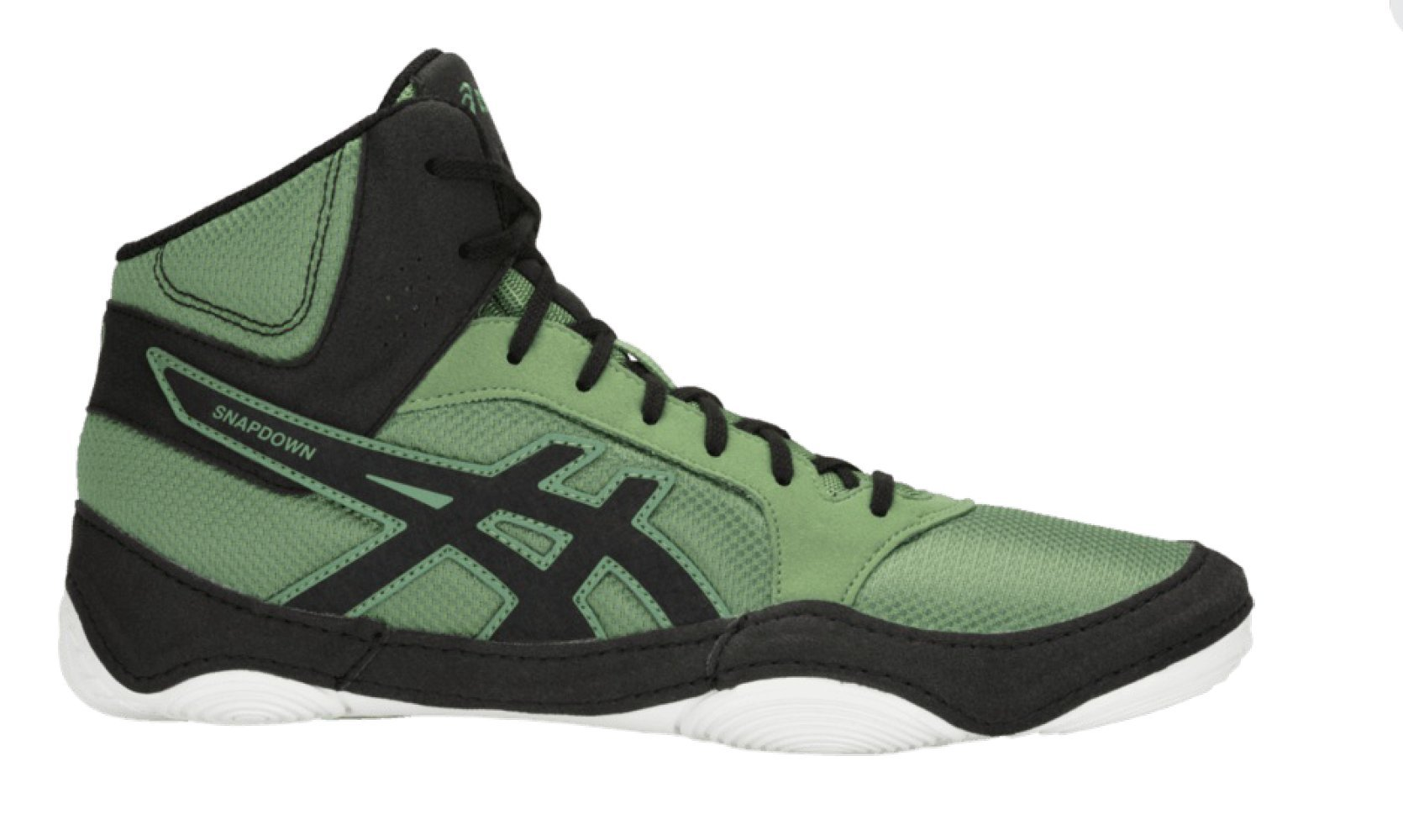 ASICS Men's Snapdown 2 Wrestling Shoe, Cedar Green/Black, Size 7