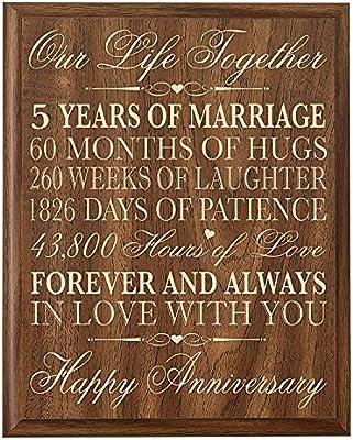 Amazon De 5 Hochzeitstag Wandschild Geschenke Fur Paar 5