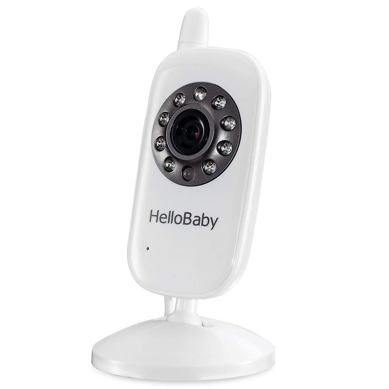 Nachtsicht Temperatur/überwachung /& 2 Way Talkback System,Wei/ß HelloBaby HB28 Wireless Video Babyphone mit Digitalkamera