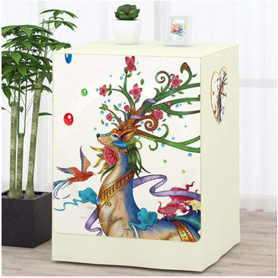 Funda impermeable para lavadora con diseño de animales de colores, arandela automática de rodillo para lavadora y secadora, tapa antipolvo, impermeable, resistente al sol, 60 x 60 x 85 cm