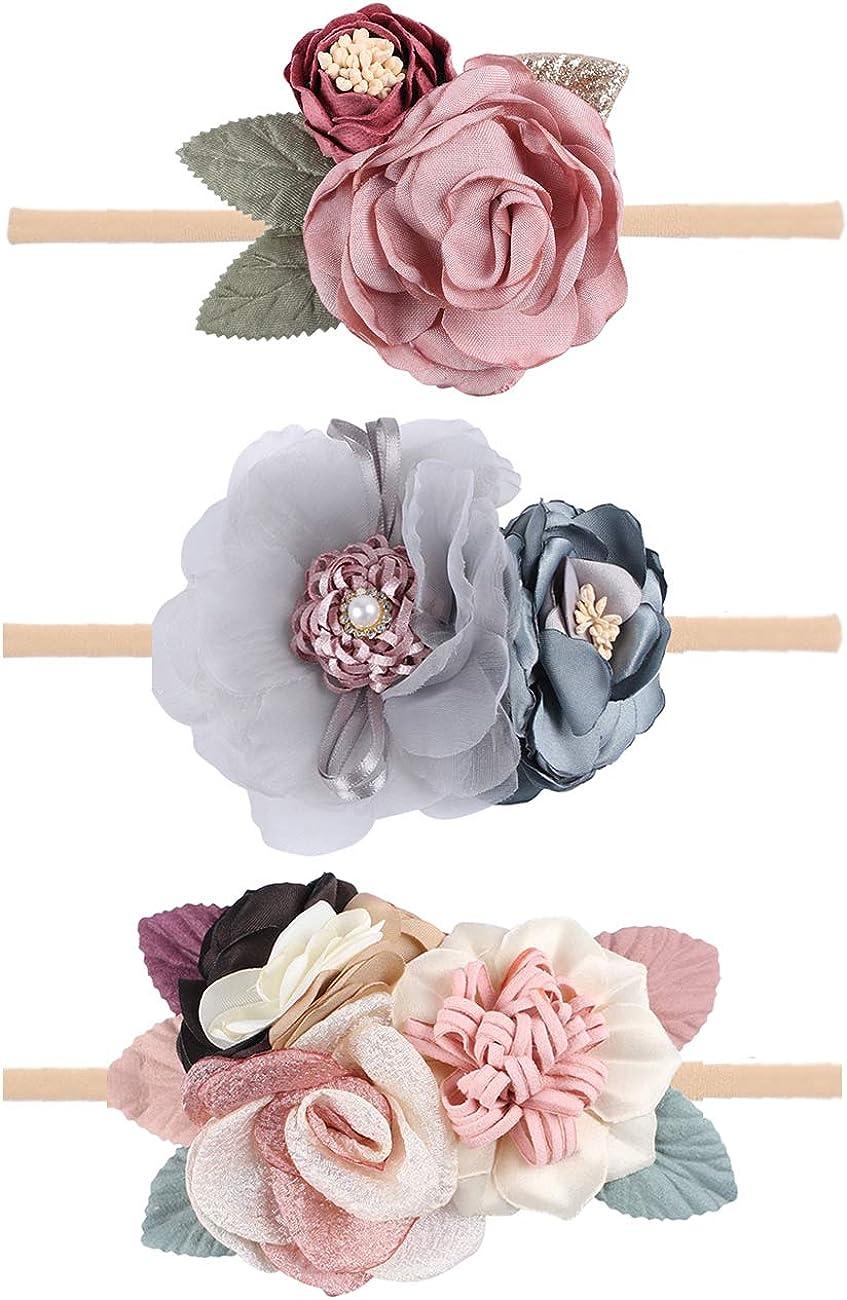 Felt Flower Headband Set Newborn and Toddler Headband Set
