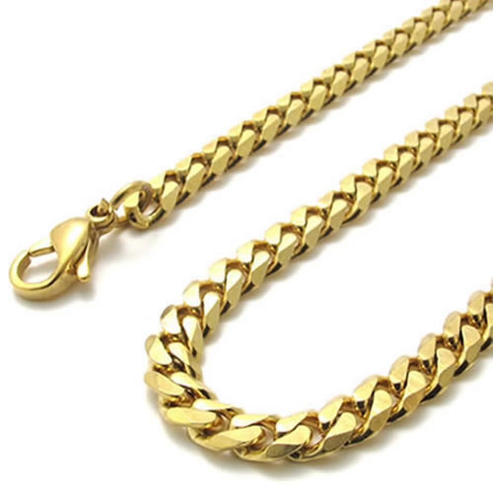 14 5mm konov gold stainless steel mens necklace chain 5mm 14 inch 14 5mm konov gold stainless steel mens necklace chain 5mm 14 inch amazon aloadofball Gallery