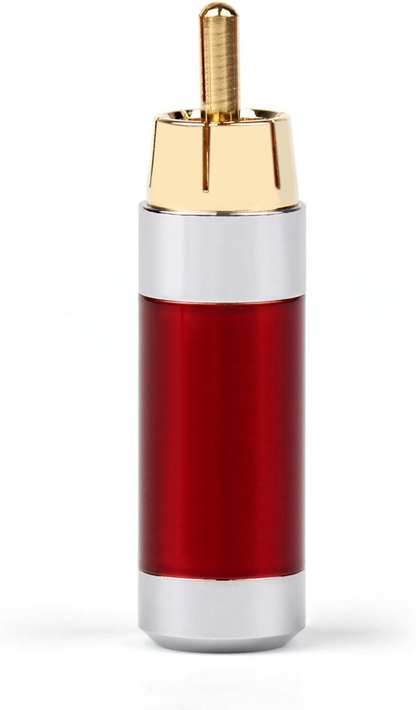 20 lot high quality Copper Rhodium Plated Carbon Fiber RCA Plug Solder ADAPTER