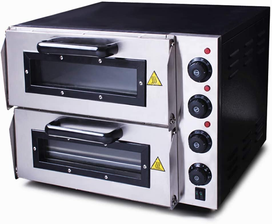 JIAWANSHUN Electric Pizza Oven Commercial Pizza Oven Countertop 0℃-350 ℃ (220V)