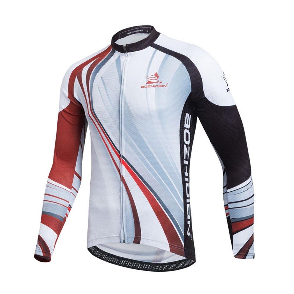 Uriah Men 's Cycling Jersey Long Sleeve Thermal Fleece B075DCF367 XXXL(CN)|ブラックレッド ブラックレッド XXXL(CN)