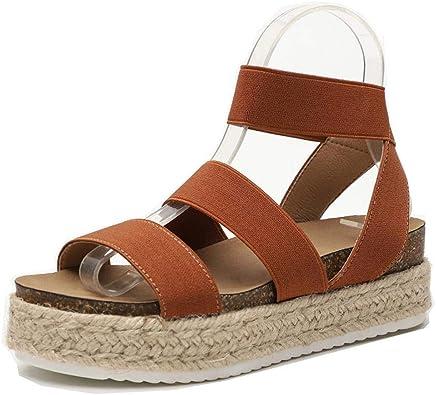 Women Slide On Footbed Wedge Sandals