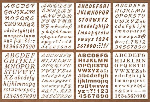 script number stencil - 4