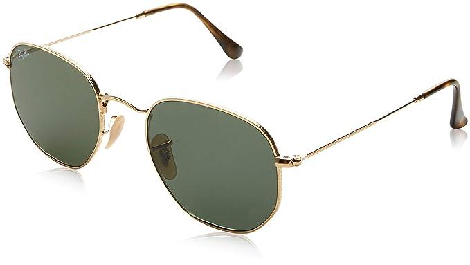 7656000369d6a Óculos de Sol Ray Ban Hexagonal Rb3548n 001 93 54 54 Dourado Espelhado