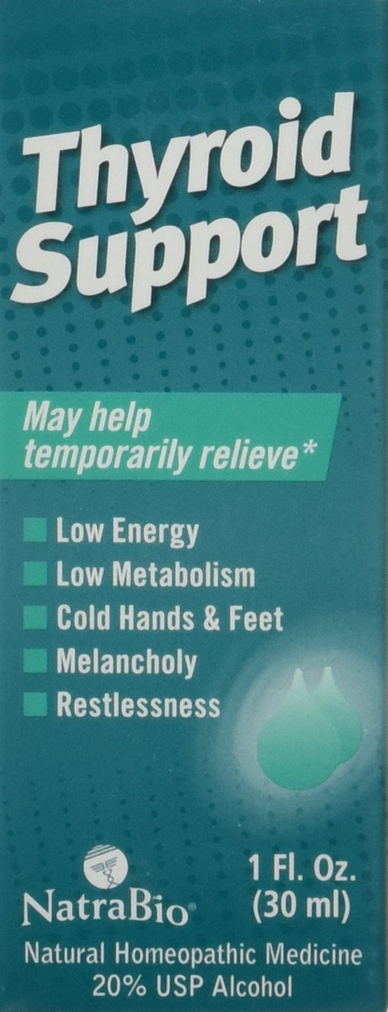 Natra-Bio Restlessness Low Energy Thyroid Support, Melancholy, 1 Ounce