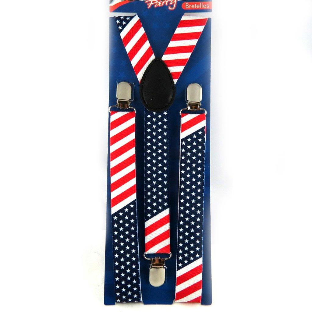 Straps 'America' blue red.