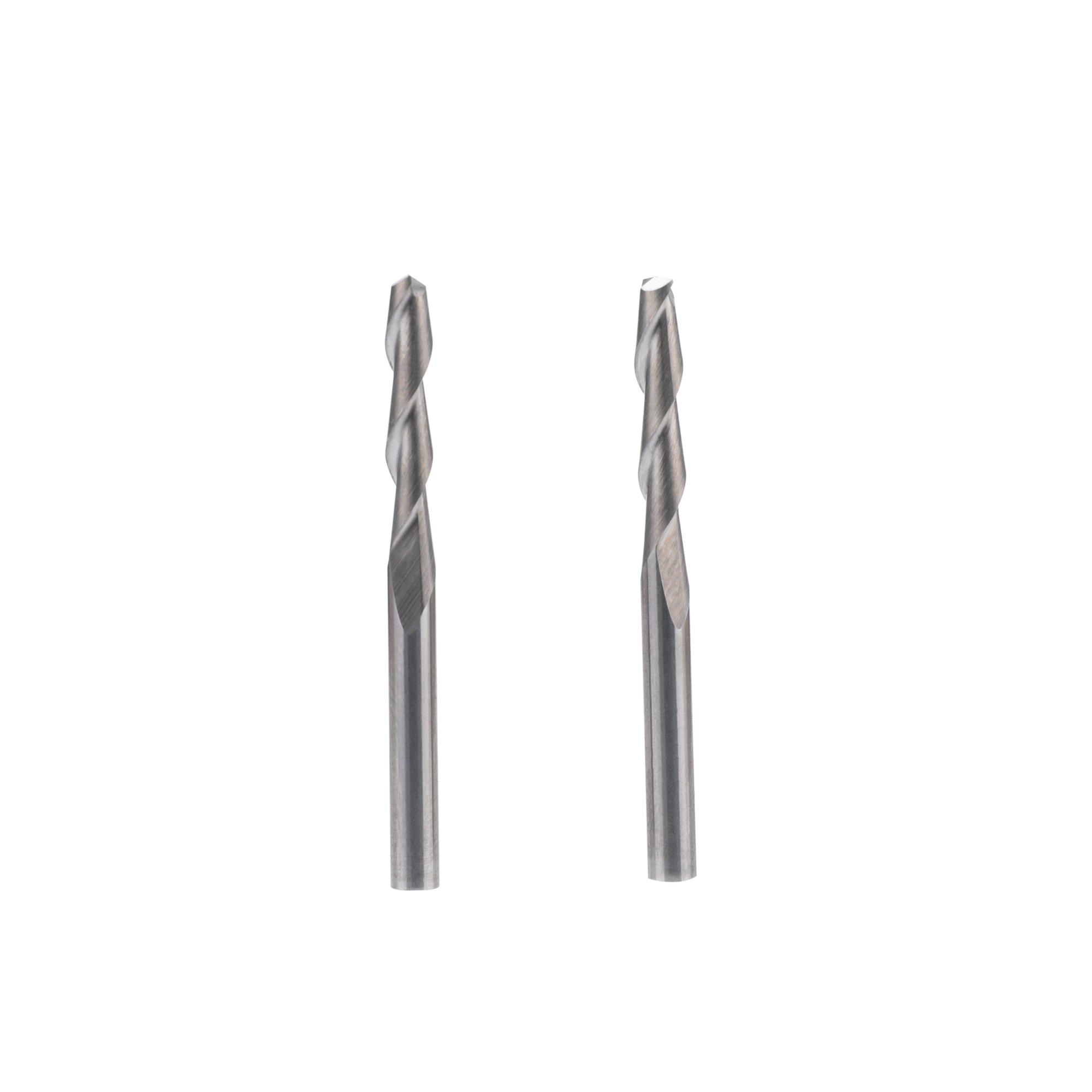 "10pcs 1//8"" Carbide Flat Nose End Mill CNC Router Bits Single Flute Spiral 17mm"