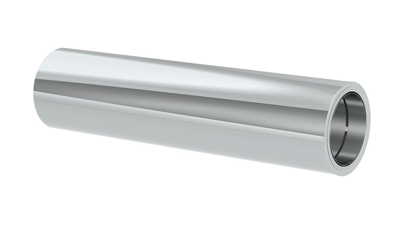 Kürzbares Längenelement 1000mm Länge mit integriertem Wandfutter für doppelwandige Schornsteine DW; Innen Außen je 0,5 mm Wandstärke; Ø 150mm Innendurchmesser, Edelstahl