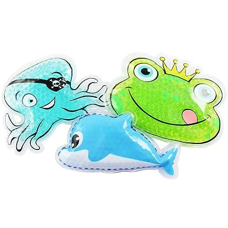 COM-FOUR® 3 compresas frías y calientes para niños con perlas de ...