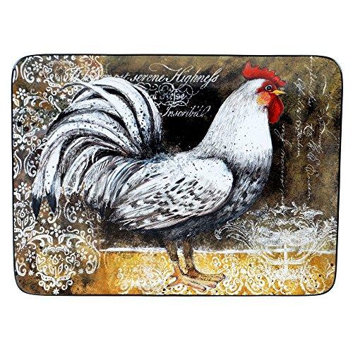 Rooster Serving Platter - Certified International 57483 Vintage Rooster Rectangular Platter, 16