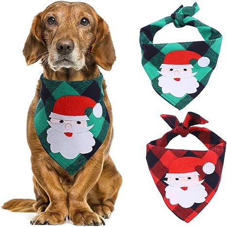 Dog Neckerchief Bandana Christmas Santa