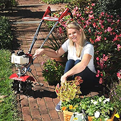 Schiller Grounds Care Mantis 7940 4-Cycle Tiller Cultivator Powered by Honda – Lightweight, Powerful and Compact
