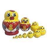 Lakerom 10 pieces Mini Animal Nesting Dolls