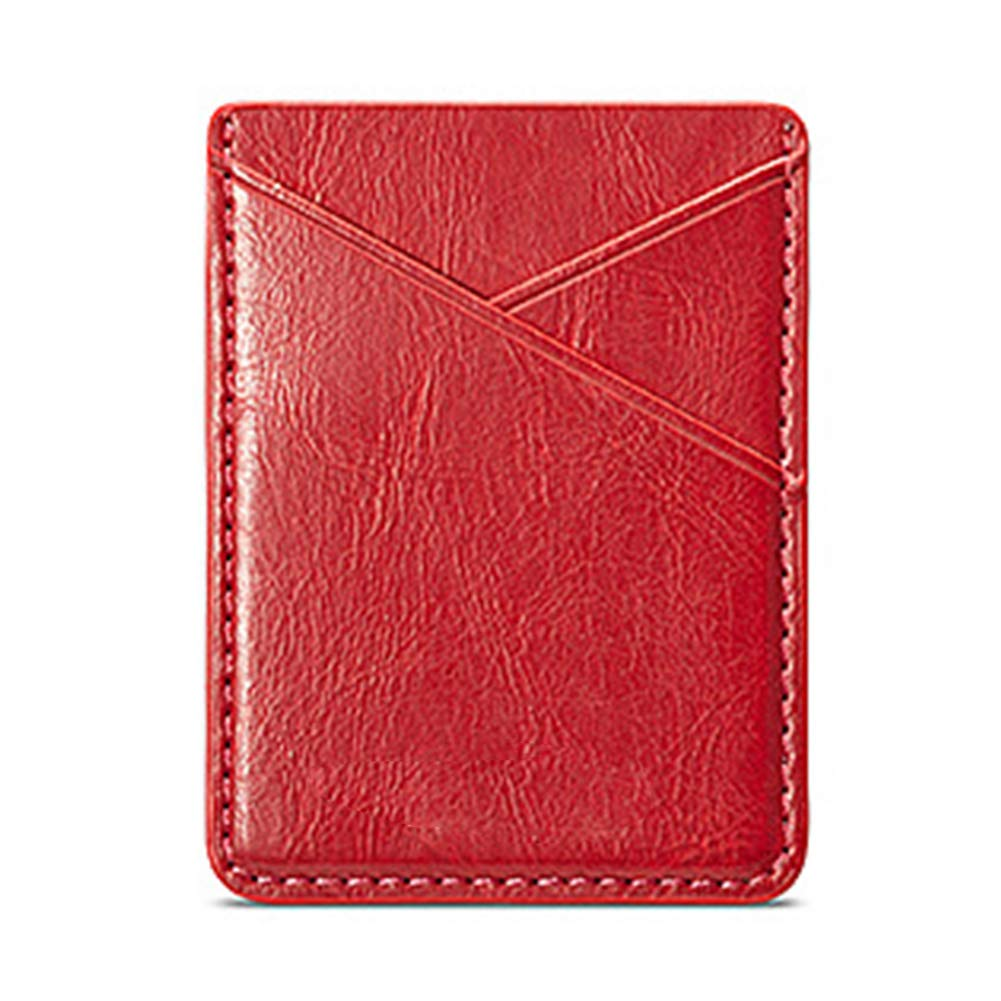 Phone Card Holder PU Leather Cell Phone Card Holder Self Adhesive Stick on Wallet for ID Credit Card Phone Sleeves Pocket for Phones (Gold)