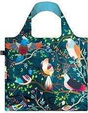 LOQI LQB1-HHBI Hvass and Hannibal Shopping Bag, Birds, L Capacity