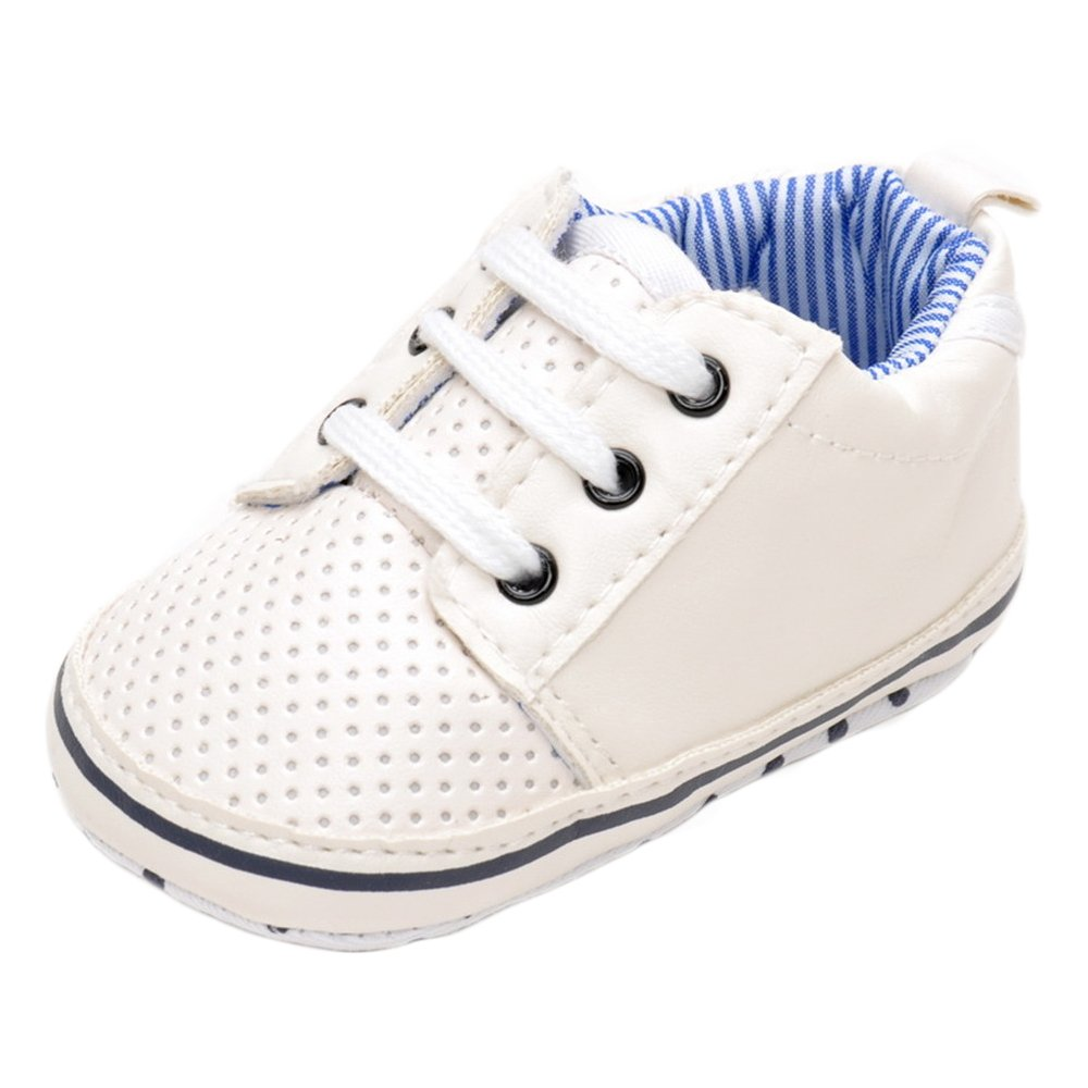 estamico Baby Boy zapatillas de tenis, color blanco, color Blanco, talla 3-6 meses 1512-BB06-W1